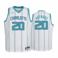 Men's Charlotte Hornets Hayward #20 Jordan Brand White 20/21 Swingman Jersey - Association Edition