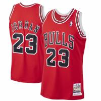 Men's Chicago Bulls Michael Jordan #23 Mitchell & Ness Red 1997-98 Hardwood Classics Player Jersey