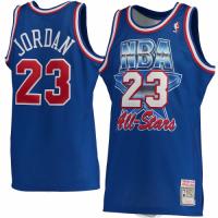 Men's Michael Jordan #23 Mitchell & Ness Blue 1993 NBA All-Star Game Hardwood Classics Jersey
