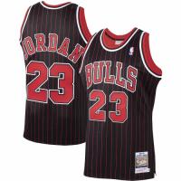 Men's Chicago Bulls Michael Jordan #23 Mitchell & Ness Black Hardwood Classics 1995-96 Jersey
