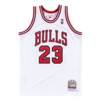 Men's Chicago Bulls Michael Jordan #23 Mitchell & Ness White 1997-98 Hardwood Classics Player Jersey
