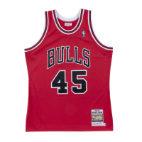 Men's Chicago Bulls Michael Jordan #45 Mitchell & Ness Red 1994-95 Hardwood Classics Player Jersey
