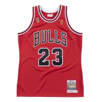 Men's Chicago Bulls Michael Jordan #23 Mitchell & Ness Red 1996-97 Hardwood Classics Player Jersey