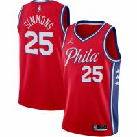 Men's Philadelphia 76ers Ben Simmons #25 Jordan Brand Red 2020/21 Swingman Jersey-Statement Edition