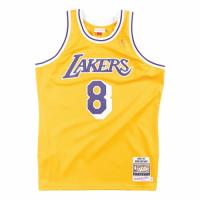 Men's Los Angeles Lakers Kobe Bryant #8 Mitchell & Ness Yellow 1996-97 Hardwood Classics Jersey