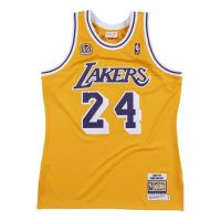 Men's Los Angeles Lakers Kobe Bryant #24 Mitchell & Ness Yellow 2007-08 Hardwood Classics Jersey