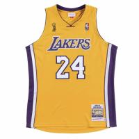 Men's Los Angeles Lakers Finals Kobe Bryant #24 Mitchell&Ness Yellow 08-09 Hardwood Classics Jersey