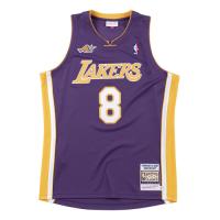 Men's Los Angeles Lakers Kobe Bryant #8 Mitchell&Ness Purple 00-01 Hardwood Classics Jersey