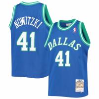 Men's Dallas Mavericks Dirk Nowitzki #41 Mitchell & Ness Blue 1998-99 Hardwood Classics Jersey