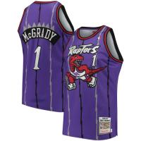 Men's Toronto Raptors Tracy McGrady #1 Mitchell & Ness Purple 98-99 Hardwood Classics Jersey