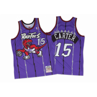 Men's Toronto Raptors Vince Carter #15 Mitchell & Ness Purple 98-99 Hardwood Classics Jersey