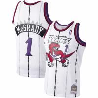 Men's Toronto Raptors Tracy McGrady #1 Mitchell&Ness White 1998-99 Hardwood Classics Swingman Jersey