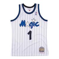 Men's Orlando Magic Anfernee Hardaway #1 Mitchell & Ness White 93-94 Hardwood Classics Jersey