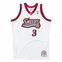 Men's Philadelphia 76ers Allen Iverson #3 Mitchell & Ness White 1997-98 Hardwood Classics Jersey