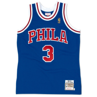 Men's Philadelphia 76ers Allen Iverson #3 Mitchell & Ness Blue1996-97 Hardwood Classics Jersey