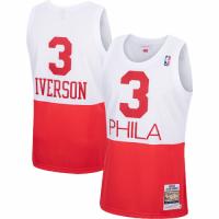 Men's Philadelphia 76ers Allen Iverson #3 Mitchell & Ness White Hardwood Classics Jersey