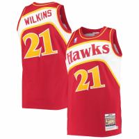 Men's Atlanta Hawks Dominique Wilkins #21 Mitchell & Ness Red 86-87 Hardwood Classics Player Jersey