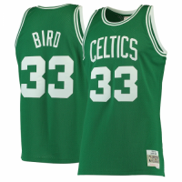 Men's Boston Celtics Larry Bird #33 Mitchell & Ness Green 1985-86 Hardwood Classics Swingman Jersey