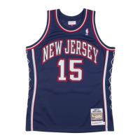 Men's New Jersey Nets Vince Carter #15 Mitchell & Ness White 06-07 Hardwood Classics Swingman Jersey