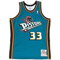 Men's Detroit Pistons Grant Hill #33 Mitchell & Ness Blue 98-99 Hardwood Classics Swingman Jersey