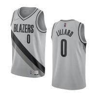 Portland Trail Blazers Damian Lillard #0 Nike Grey 2020/21 Swingman NBA Jersey– Earned Edition