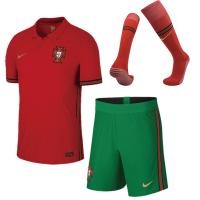 Portugal Kid's Soccer Jersey Home Whole Kit (Shirt+Short+Socks) 2020