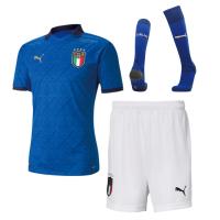 Italy Kid's Soccer Jersey Home Whole Kit (Shirt+Short+Socks) 2020
