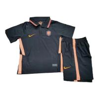 Netherlands Kid's Soccer Jersey Away Kit (Shirt+Short) 2021