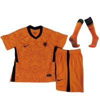 Netherlands Kid's Soccer Jersey Home Whole Kit (Shirt+Short+Socks) 2021