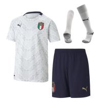 Italy Kid's Soccer Jersey Away Whole Kit (Shirt+Short+Socks) 2020