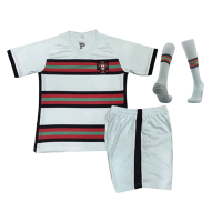 Portugal Kids Soccer Jersey Away Whole Kit (Shirt+Short+Socks) 2020