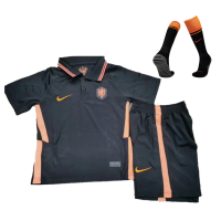 Netherlands Kid's Soccer Jersey Away Whole Kit(Shirt+Short+Socks) 2021
