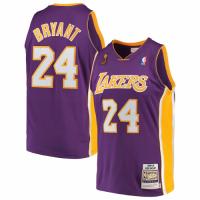 Men's Los Angeles Lakers Kobe Bryant #24 Mitchell & Ness Purple 08-09 Hardwood Classics Jersey
