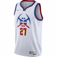 Men's Denver Nuggets Jamal Murray #27 Nike White 2020/21 Swingman Player Jersey – Earned Edition