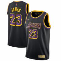 Men's Los Angeles Lakers LeBron James #23 Nike Black 2020/21 Swingman Player Jersey – Earned Edition