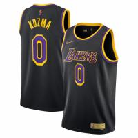 Men's Los Angeles Lakers Kyle Kuzma #0 Nike Black 2020/21 Swingman Player Jersey – Earned Edition