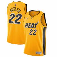 Men's Miami Heat Jimmy Butler #22 Nike Yellow 20/21 Swingman Jersey - Earned Edition