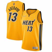 Men's Miami Heat Bam Adebayo #13 Nike Yellow 20/21 Swingman Jersey - Earned Edition