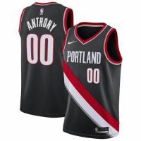 Men's Portland Trail Blazers Carmelo Anthony #00 Nike Black 2020/21 Swingman Jersey – Icon Edition