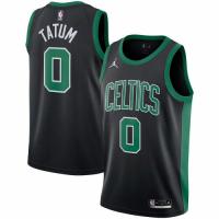 Men's Boston Celtics Jayson Tatum #0 Jordan Brand Black 202021 Swingman Jersey - Statement Edition