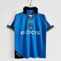 Manchester City Soccer Jersey Home Retro Replica 1999/01
