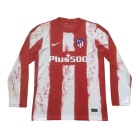 Atletico Madrid Soccer Jersey Home Long Sleeve Replica 2021/22