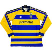 Parma Calcio Retro Soccer Jersey Home Long Sleeve Replica 1999/00