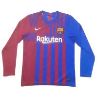 Barcelona Soccer Jersey Home Long Sleeve Replica 2021/22