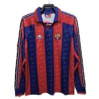 Barcelona Retro Soccer Jersey Home Long Sleeve Replica 1996/97