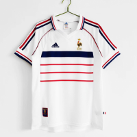 France Retro Soccer Jersey Away Replica World Cup 1998