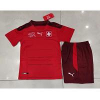 Switzerland Kid's Soccer Jersey Home Kit (Jersey+Short) 2021