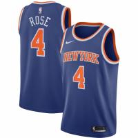 Men's New York Knicks Derrick Rose #4 Nike Blue 202021 Swingman Jersey - Icon Edition