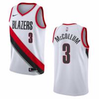 Men's Portland Trail Blazers McCOLLUM #3 Nike White Swingman NBA Jersey - Association Edition