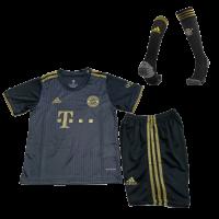Bayern Munich Kid's Soccer Jersey Away Whole Kit (Jersey+Short+Socks) 2021/22